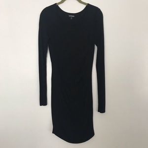 Express ruched front sweater dress